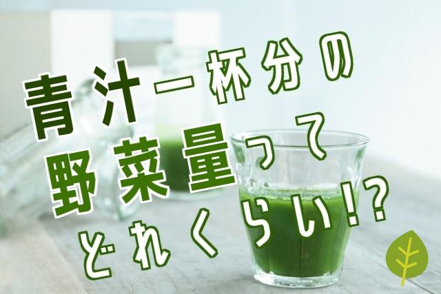 青汁1杯分ってどれくらいの野菜量なの?栄養素ごとに表現してみた